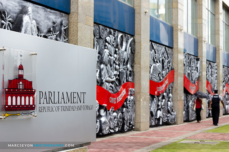 Parliament signage at the International Waterfront Centre